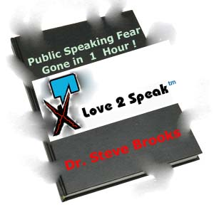 The Love2Speak Method Work  Manual includes the 1 hour course materials relating to getting over fear of public speaking stage fright and speech anxiety and improving communication and presentation skills in one hour